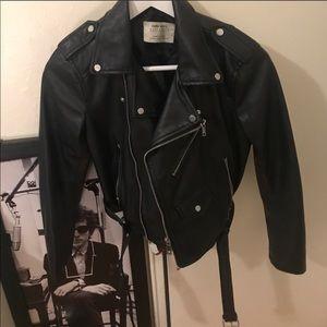 zara black jacket